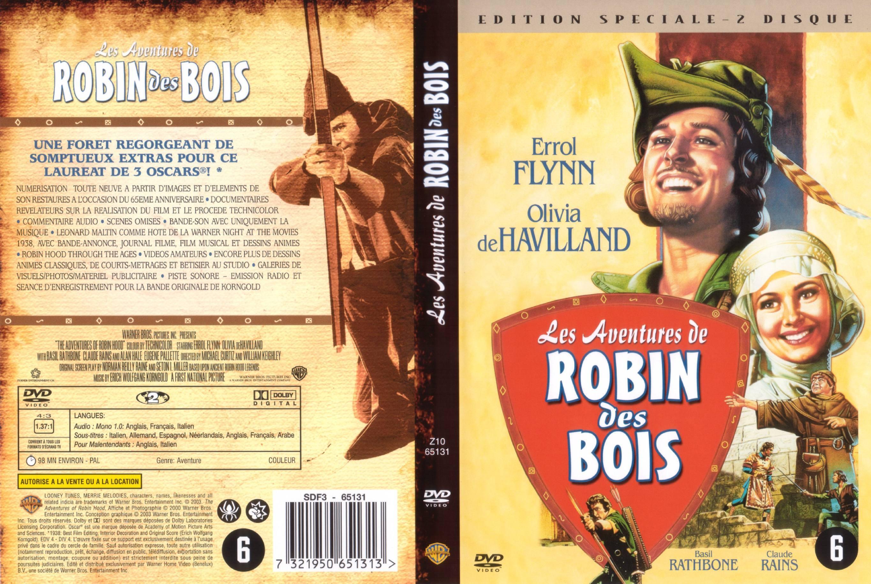 Les aventures de robin des bois  Jaquette dvd sur Degainecom ~ Parodie Robin Des Bois