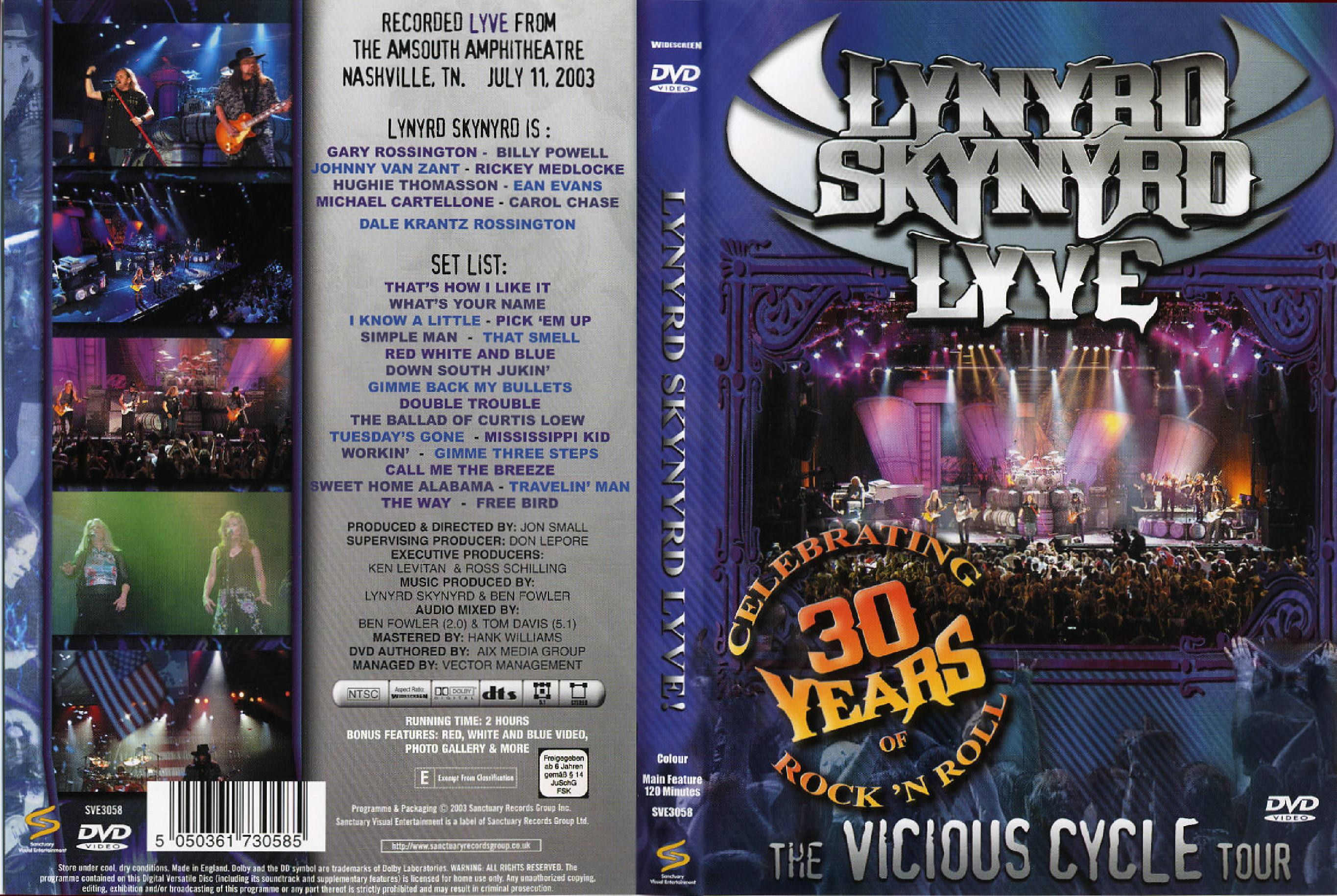 Lynyrd skynyrd the vicious cycle tour