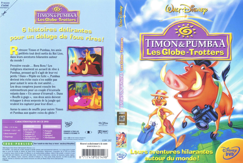 Timon et pumbaa les globe trotters - Jaquette dvd sur Degaine.com